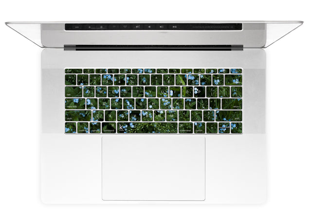 Forget Me Nots MacBook Keyboard Stickers alternate