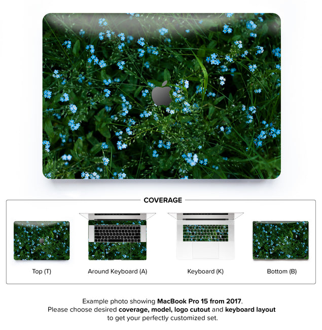 Forget Me Nots MacBook Skin