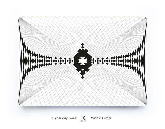 Frequency Macbook Skin by Sebastian Konczak at Keyshorts.com