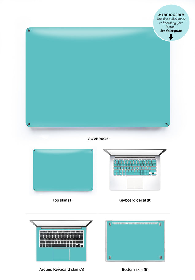 Fresh Mint Laptop Skin