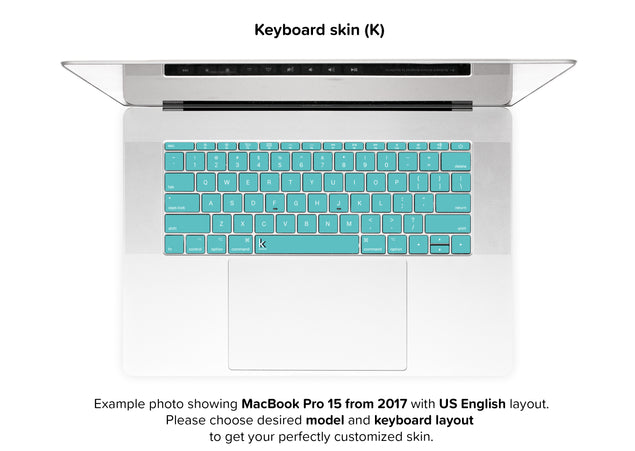 Fresh Mint MacBook Skin - keyboard stickers