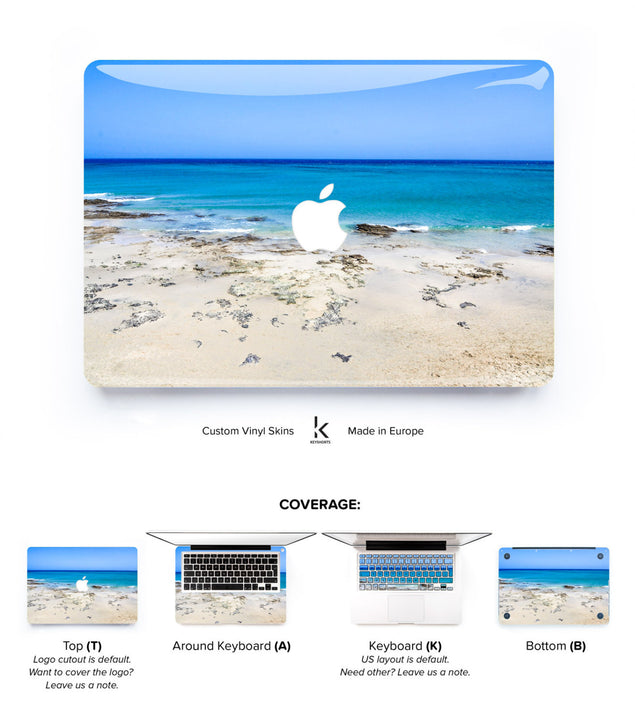 Fuerteventura Beach MacBook Skin at Keyshorts.com