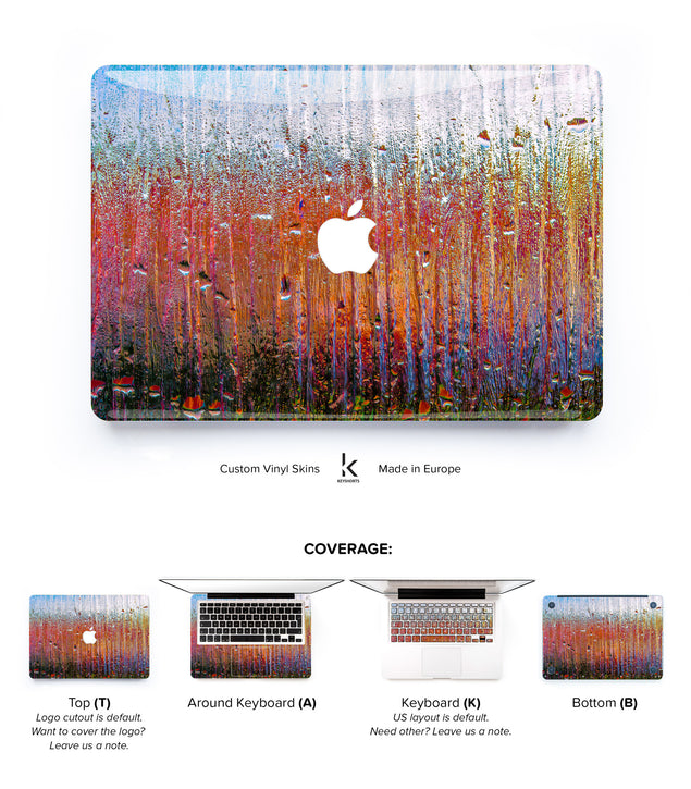 Burning Glass MacBook Skin at Keyshorts.com