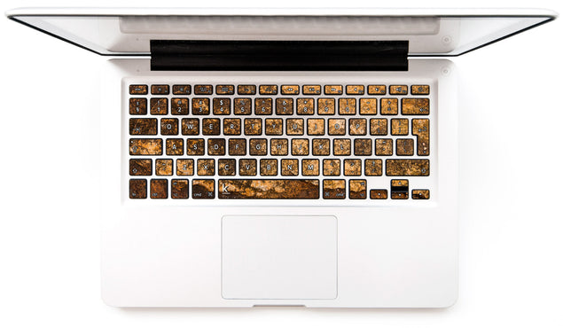 Gold Copper MacBook Keyboard Decal at Keyshorts.com