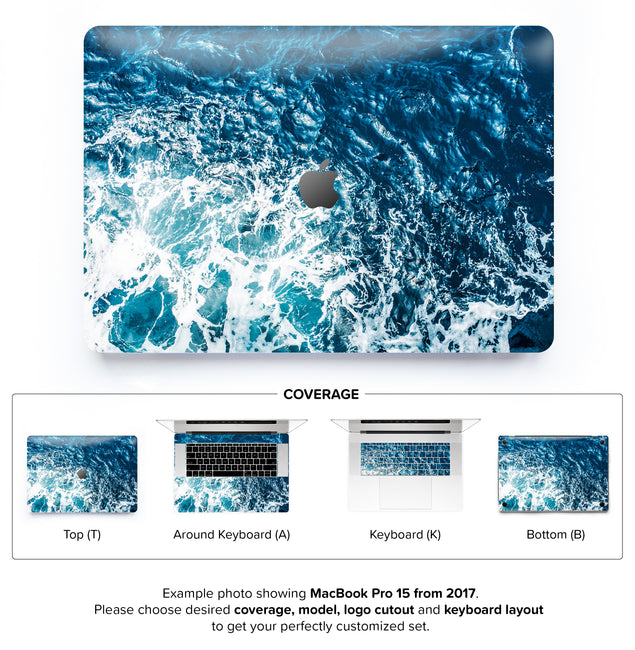 Gozo Wave MacBook Skin