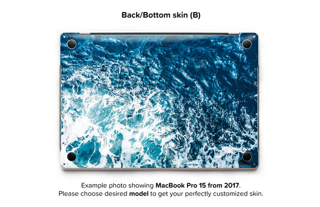Gozo Wave MacBook Skin - back skin