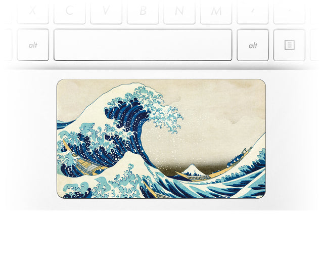 Great Wave of Kanagawa Laptop trackpad decal at Keyshorts.com