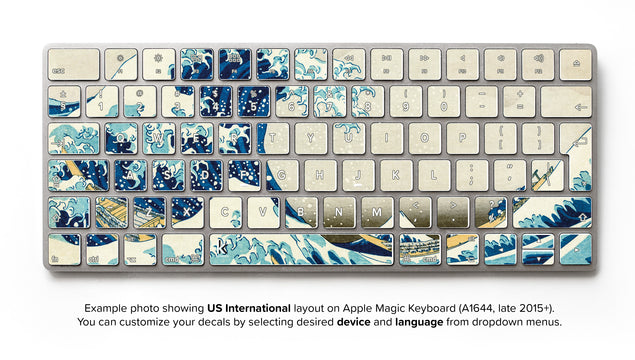 Great Wave of Kanagawa iMac Keyboard Skin