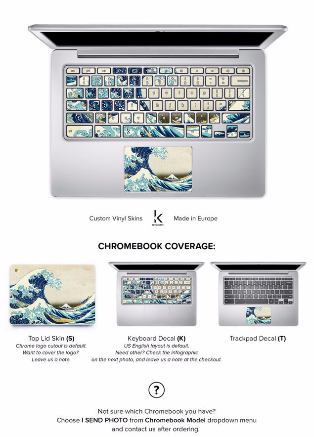 Great Wave of Kanagawa Chromebook Skin