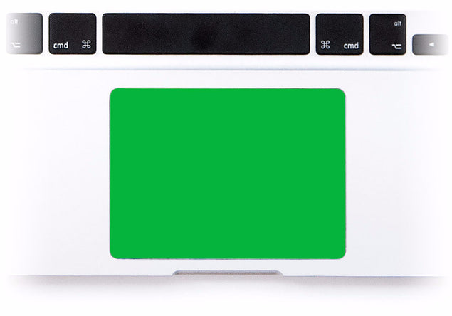 Green MacBook Trackpad Sticker at Keyshorts.com