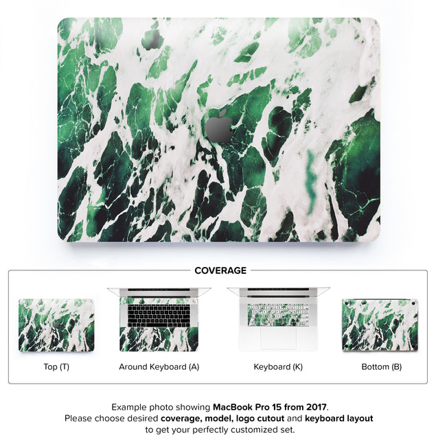 Green Marble 2 MacBook Skin