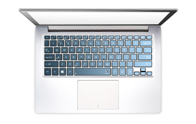 Grey Blue Ombre Laptop Keyboard Decal
