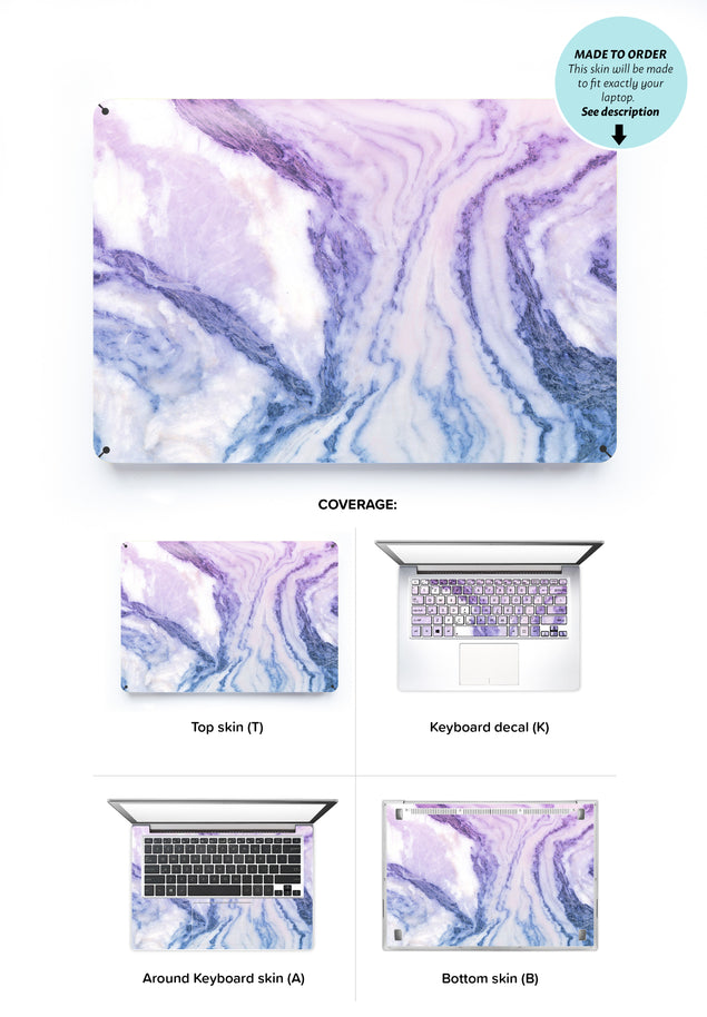 Happy Pastel Marble Laptop Skin