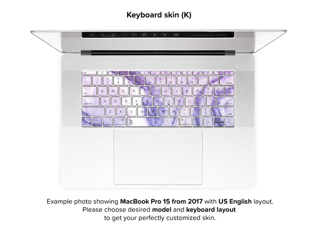 Happy Pastel Marble MacBook Skin - keyboard stickers