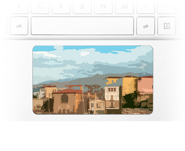 Holiday Postcard Laptop Trackpad Sticker