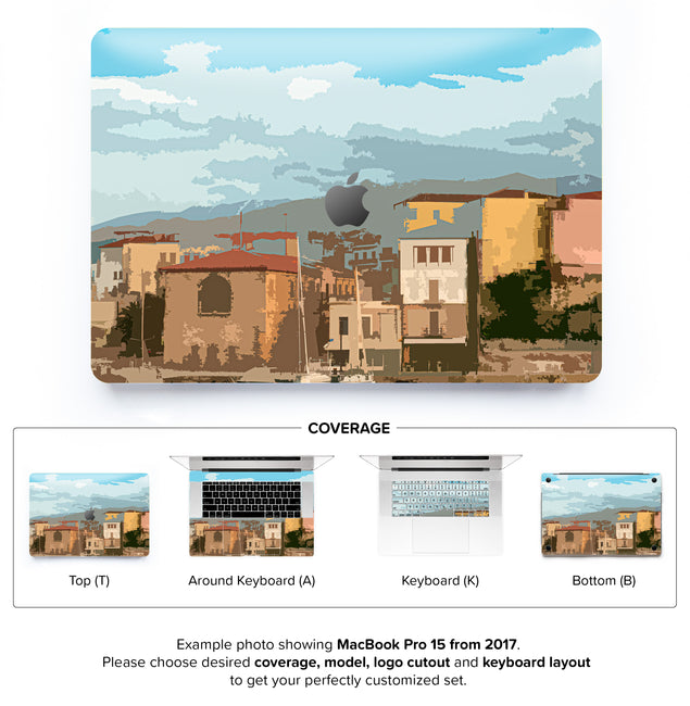 Holiday Postcard MacBook Skin