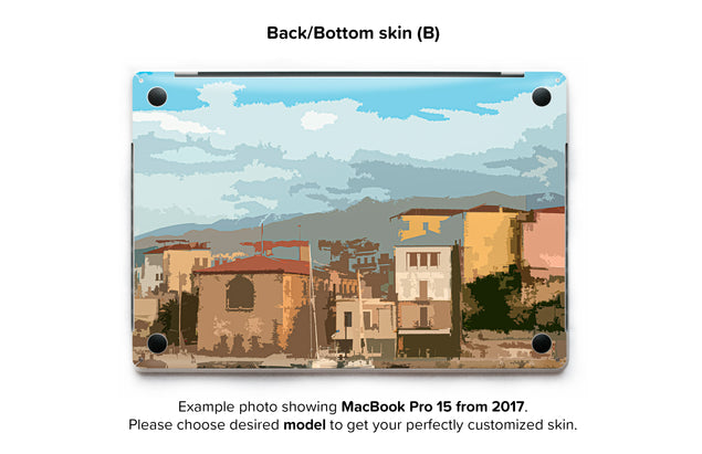 Holiday Postcard MacBook Skin - back skin
