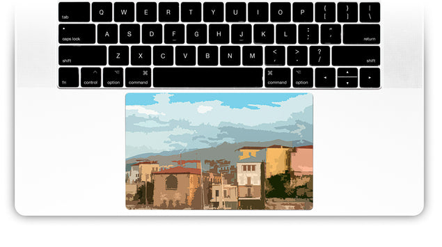 Holiday Postcard MacBook Trackpad Sticker