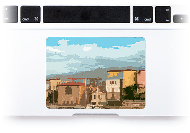 Holiday Postcard MacBook Trackpad Sticker alternate