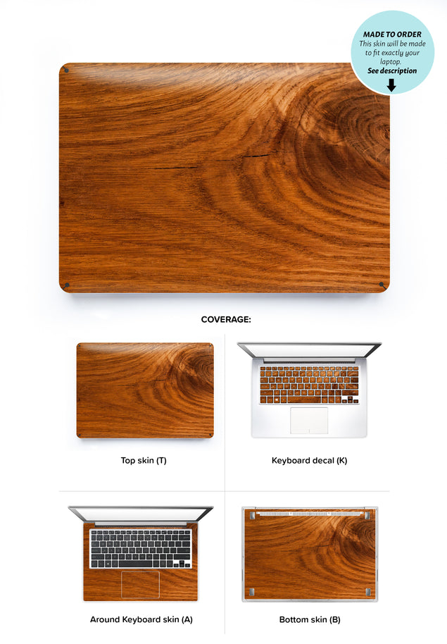 Honey Wood Laptop Skin