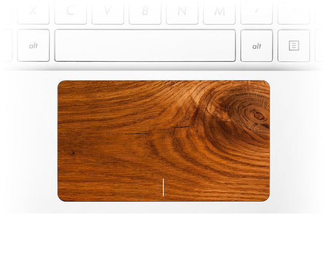 Honey Wood Laptop Trackpad Sticker