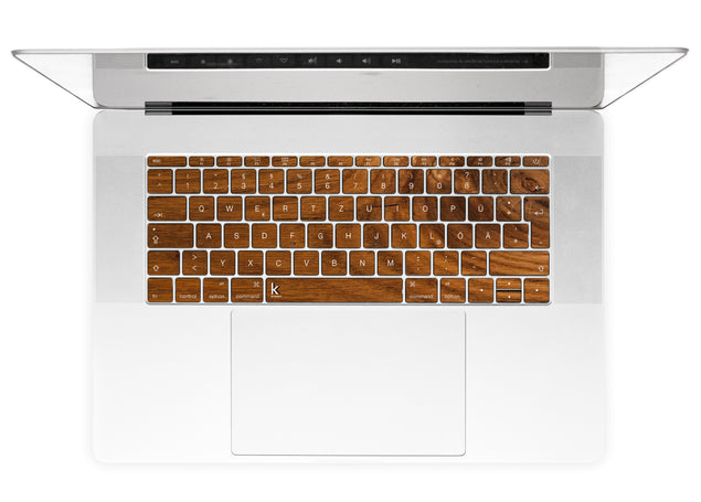 Honey Wood MacBook Keyboard Stickers alternate