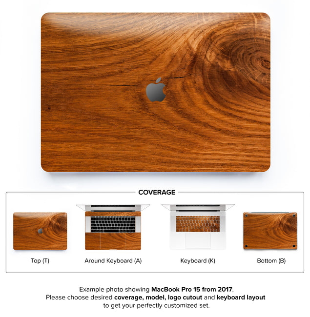 Honey Wood MacBook Skin