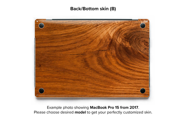 Honey Wood MacBook Skin - back skin