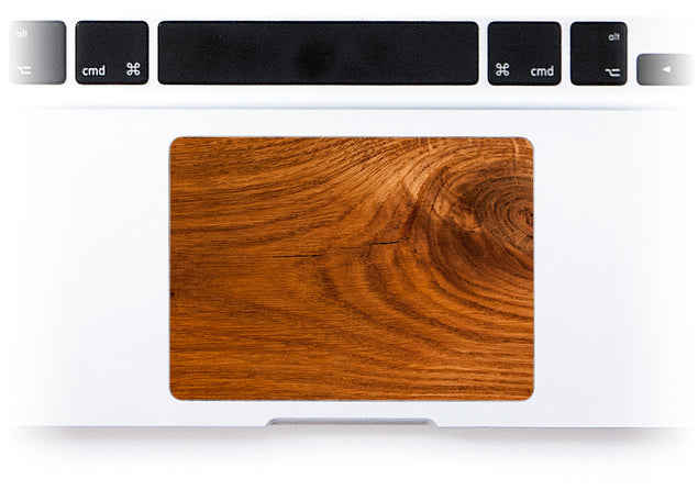 Honey Wood MacBook Trackpad Sticker alternate