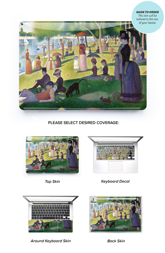 Seurat Sunday on La Grande Jatte Laptop Skin