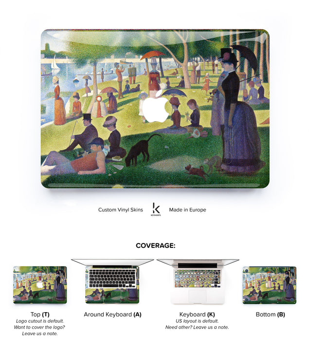 Impressionist Sunday MacBook Skin at Keyshorts.com