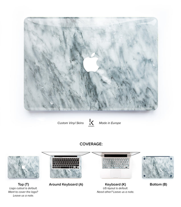 Intense Marble MacBook Skin