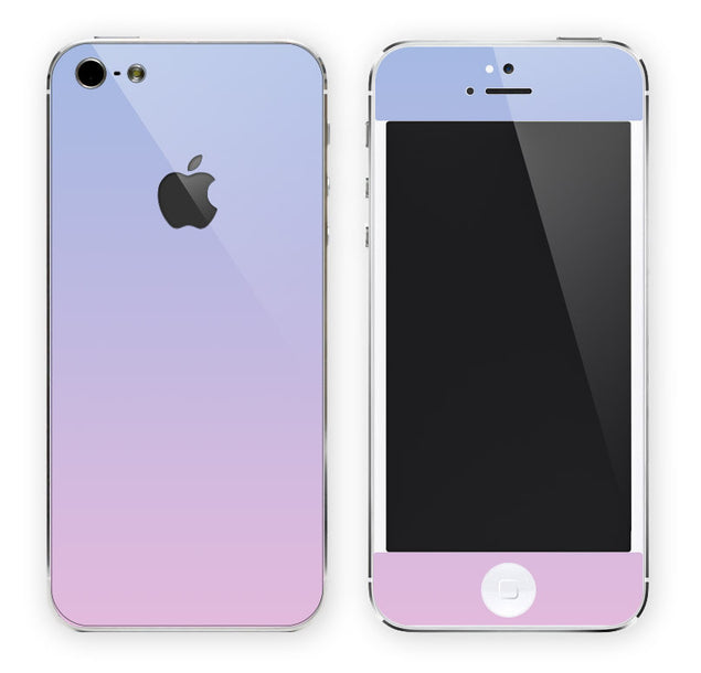 Pink Blue Ombre iPhone Skin at Keyshorts.com