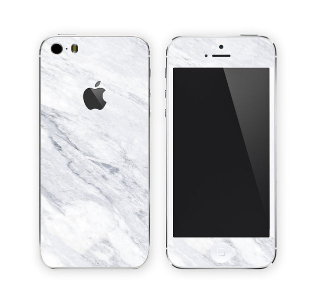 White Carrara Marble iPhone Skin at Keyshorts.com