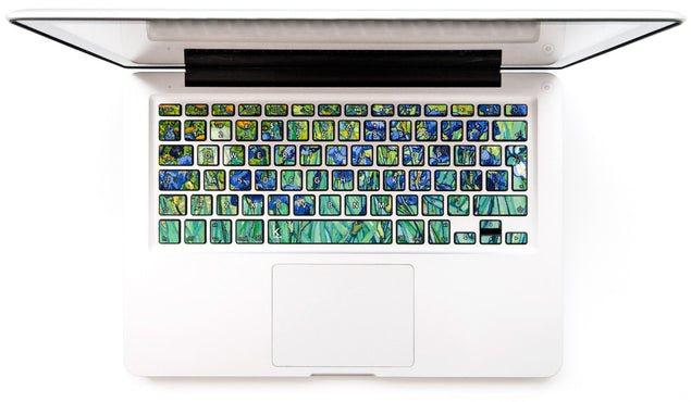 Van Gogh Irises MacBook Keyboard Decal at Keyshorts.com