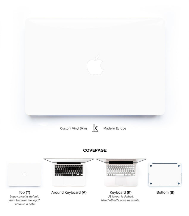 Ivory White MacBook Skin at Keyshorts.com