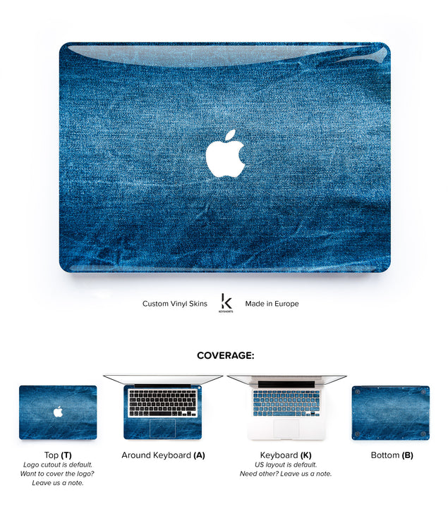 Jeans Story MacBook Skin at Keyshorts.com