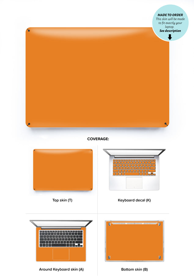 Juicy Orange Laptop Skin