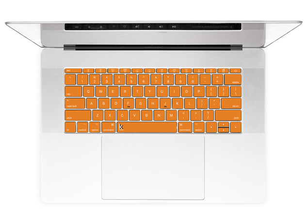 Juicy Orange MacBook Keyboard Stickers alternate