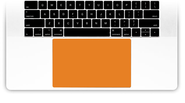 Juicy Orange MacBook Trackpad Sticker