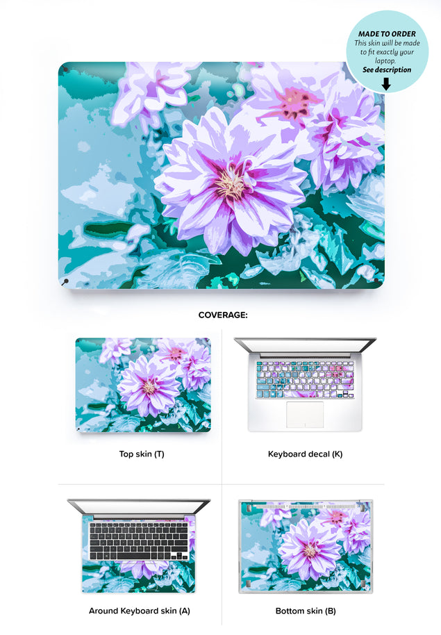 June Flowers Laptop Skin