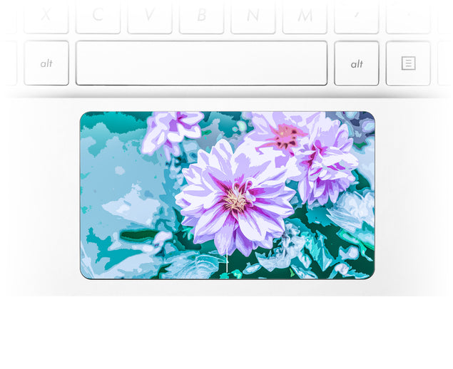 June Flowers Laptop Trackpad Sticker