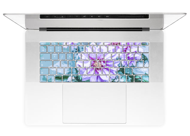 June Flowers MacBook Keyboard Stickers alternate