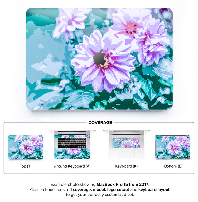 June Flowers MacBook Skin