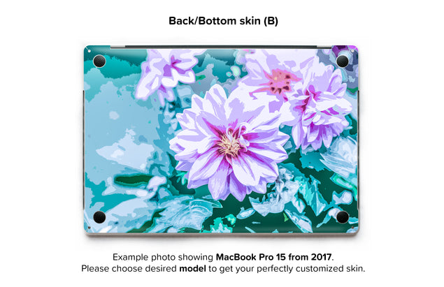 June Flowers MacBook Skin - back skin