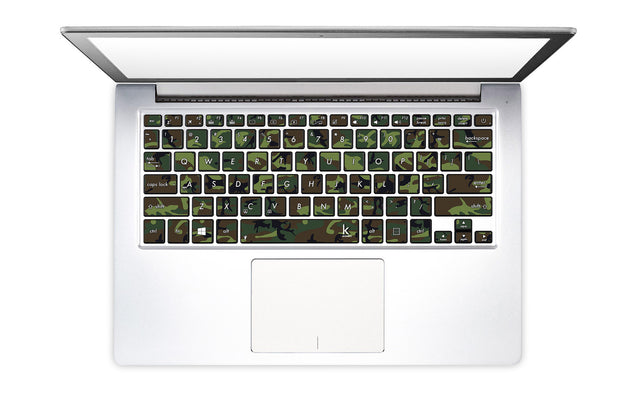 Jungle Camo Laptop Keyboard Decal