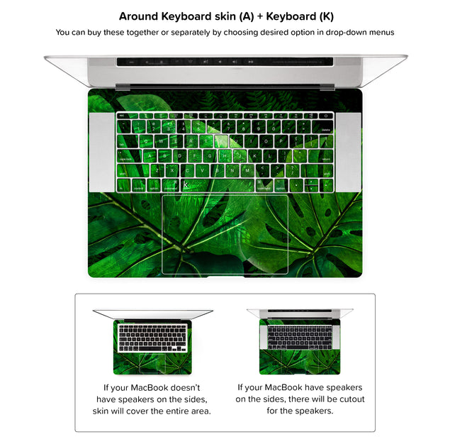 Jungle Tango MacBook Skin - around keyboard skin