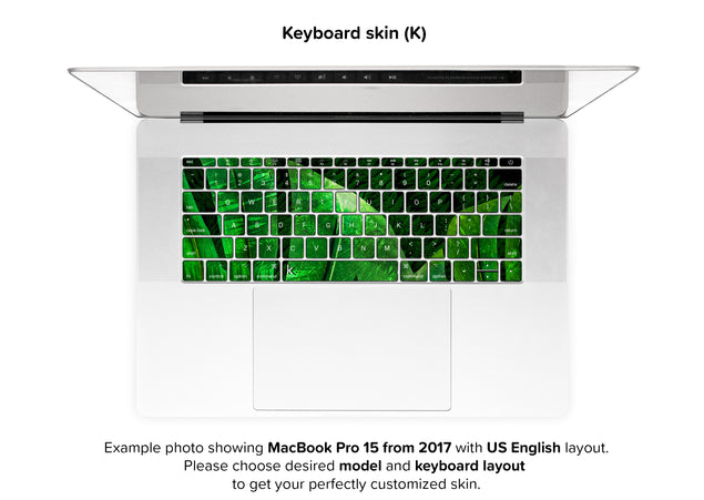 Jungle Tango MacBook Skin - keyboard stickers