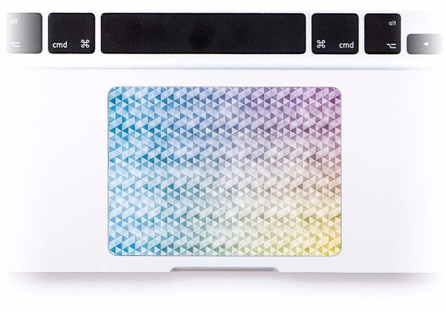 Kaleidoscope MacBook Trackpad Sticker at Keyshorts.com