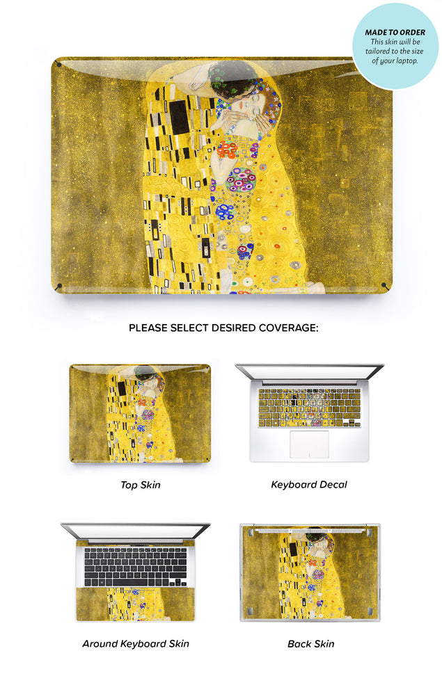 The Kiss by Gustav Klimt Laptop Skin